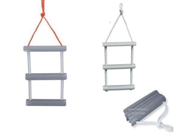 zlozljiva lestev lojtra za coln stopnice stepenice ljestva za gumeni camac boat ladder 3 step